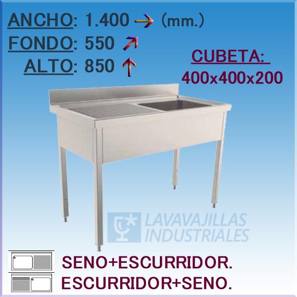 FREGADOR 1400X550 mm.